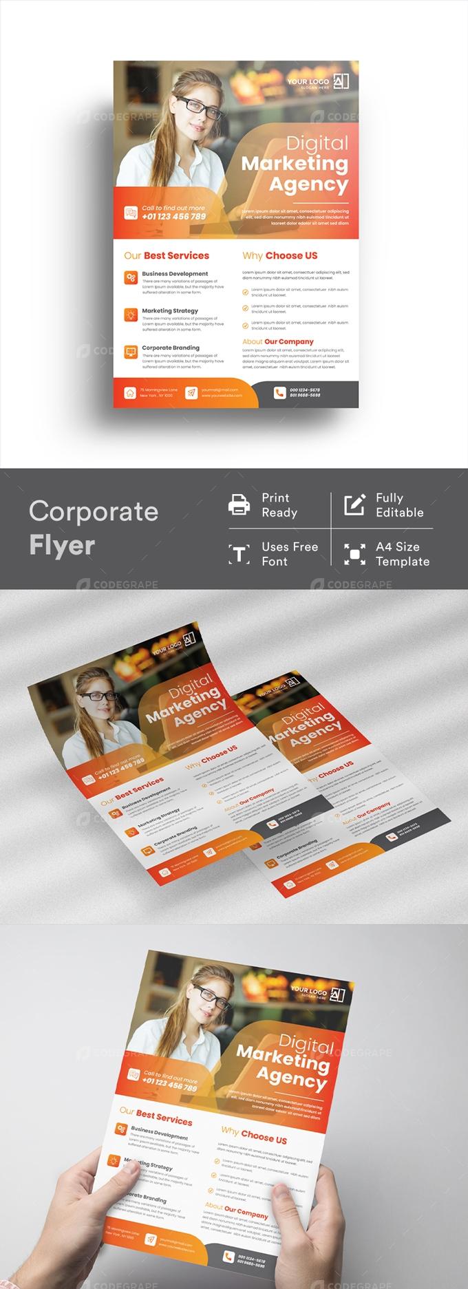 Corporate Minimalist Flyer Design Template