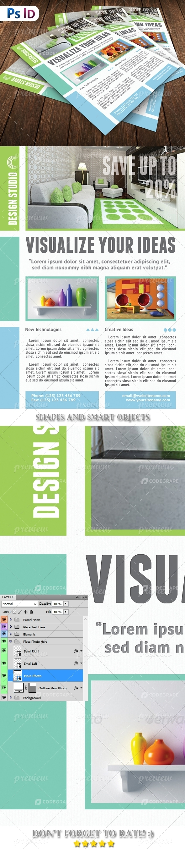 Interior Decor Flyer Template
