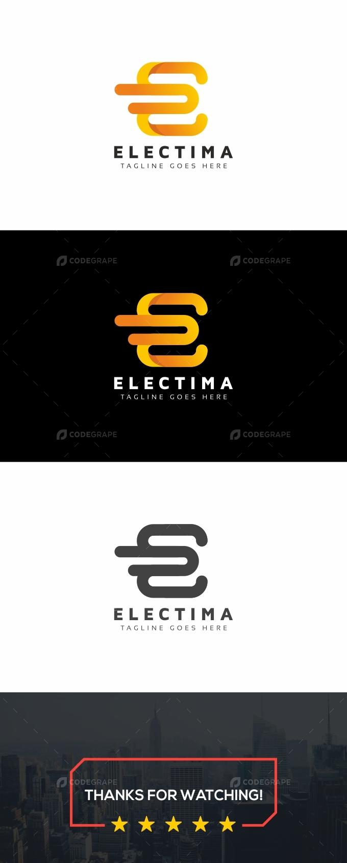 Electima E Letter Logo