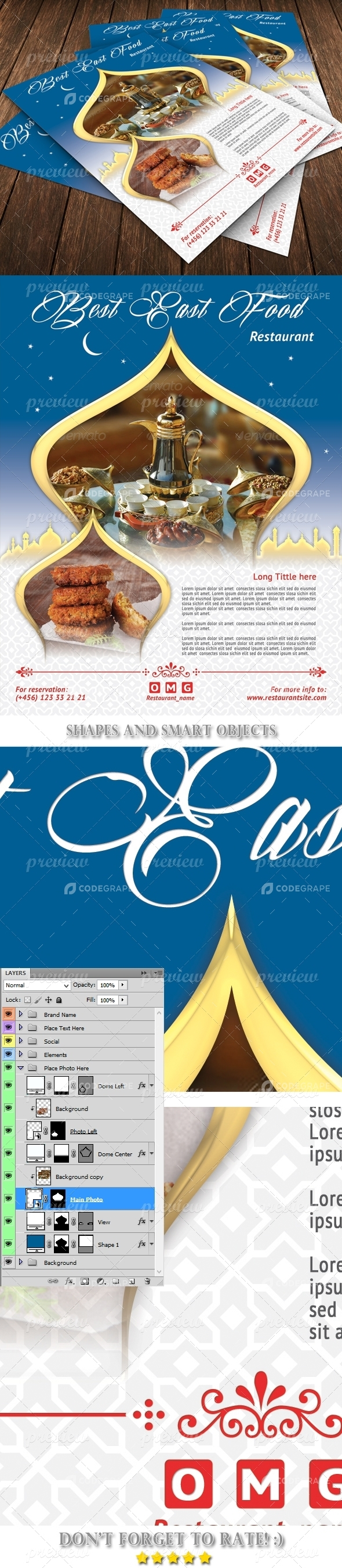 Best East Food Flyer Template