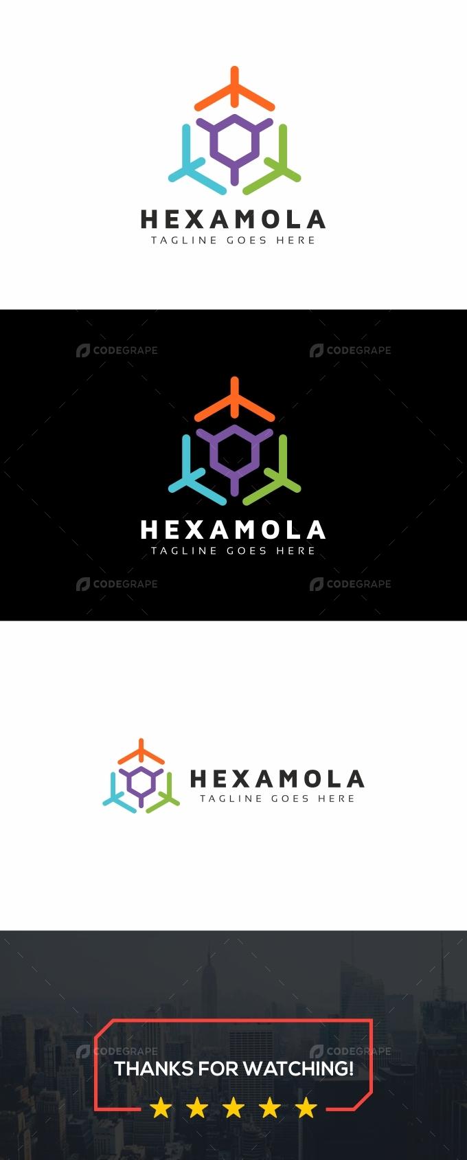 Hexagon Molecula Logo