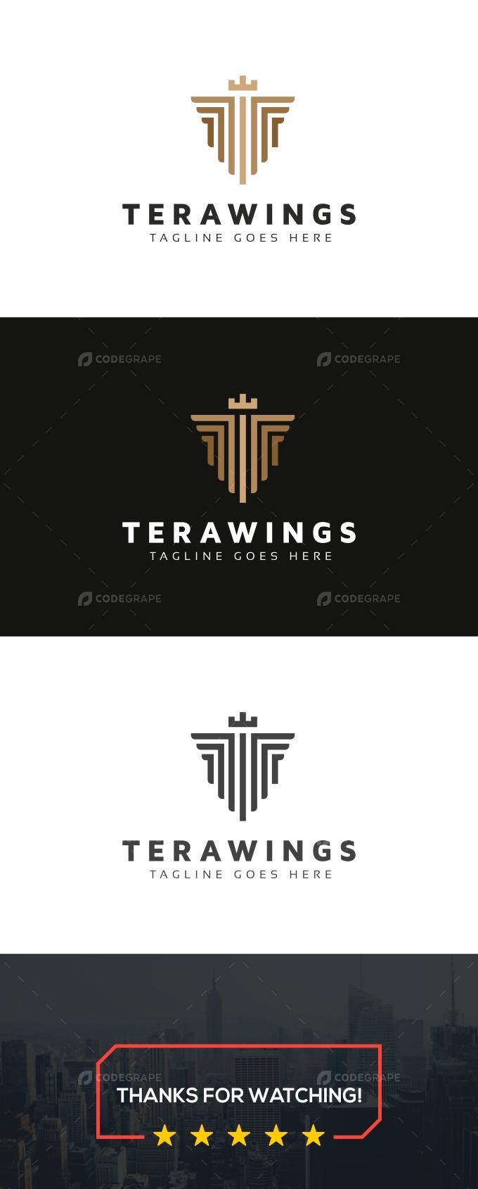 Terawings T Letter Logo
