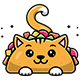 Cat Taco Vector Illustration