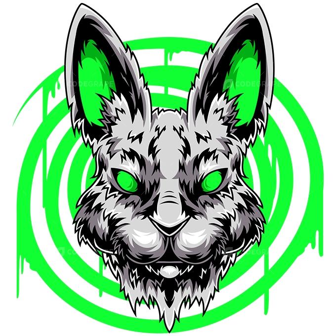 Chasing Rabbits Vector Illustration