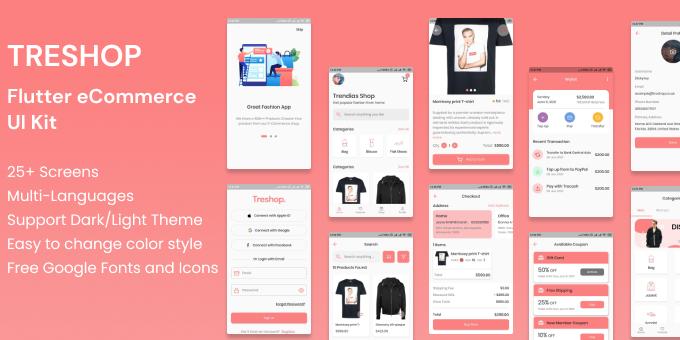 TRESHOP | Flutter eCommerce UI Kit
