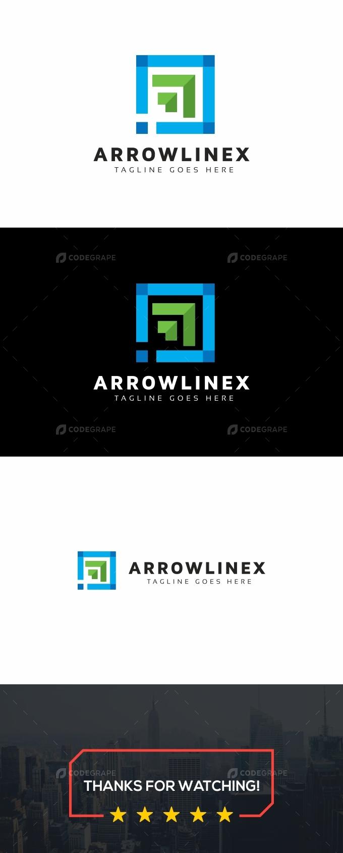 Arrows Square Logo