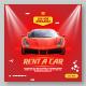 Car Rent Promotional Social Media Banner