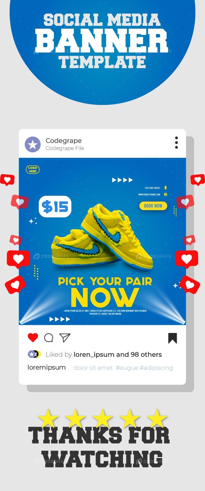 Modern Shopping Banner Social Media Template