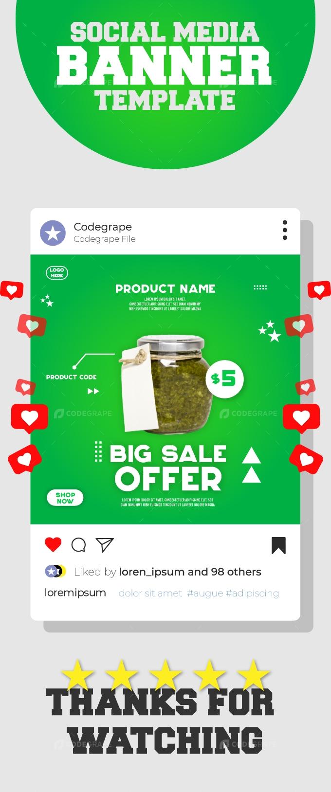 Big Sale Offer Social Media Template