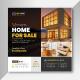 Elegant Real Estate Social Media Post Banner Ads Template