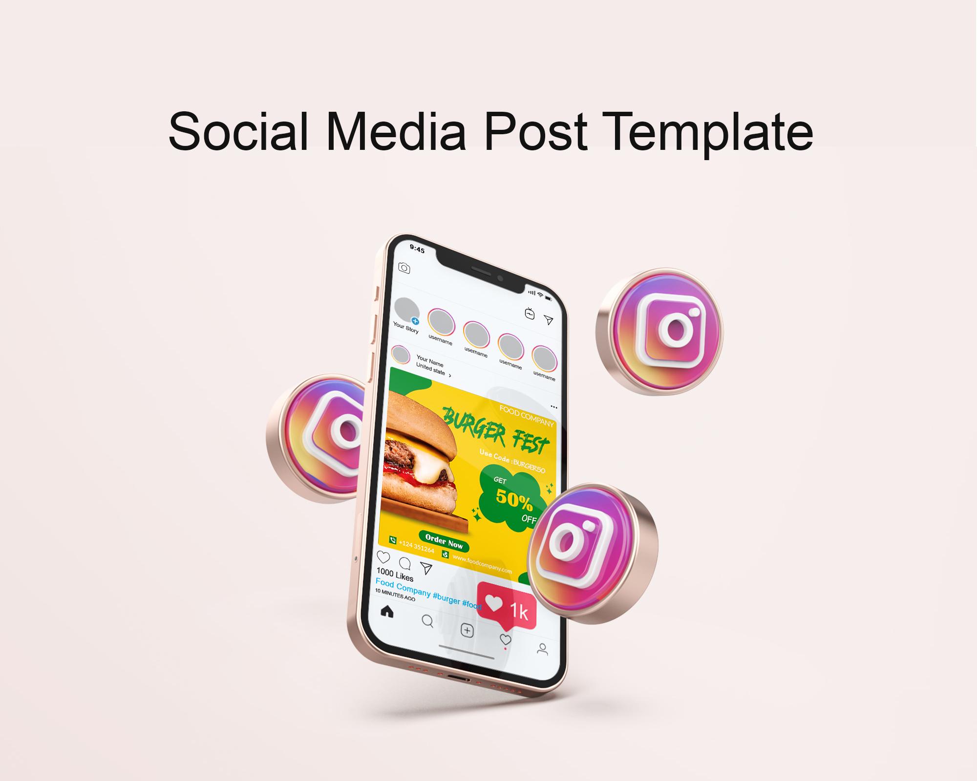 Restaurant Social Media Post Template