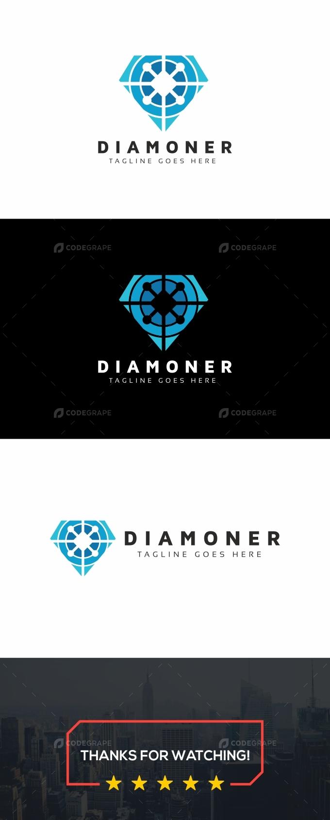 Diamond Tech Modern Logo