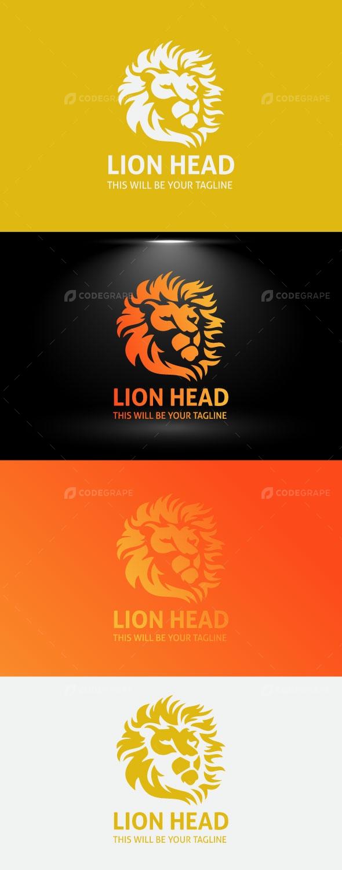 Lion Head Logo / Elegant Lion Face Logo