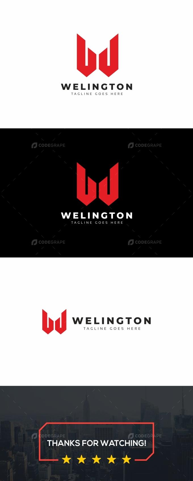 Welington W Letter Logo