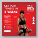Gym Fitness Promotional Sale Banner