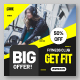 Gym House Promotional Sale Banner