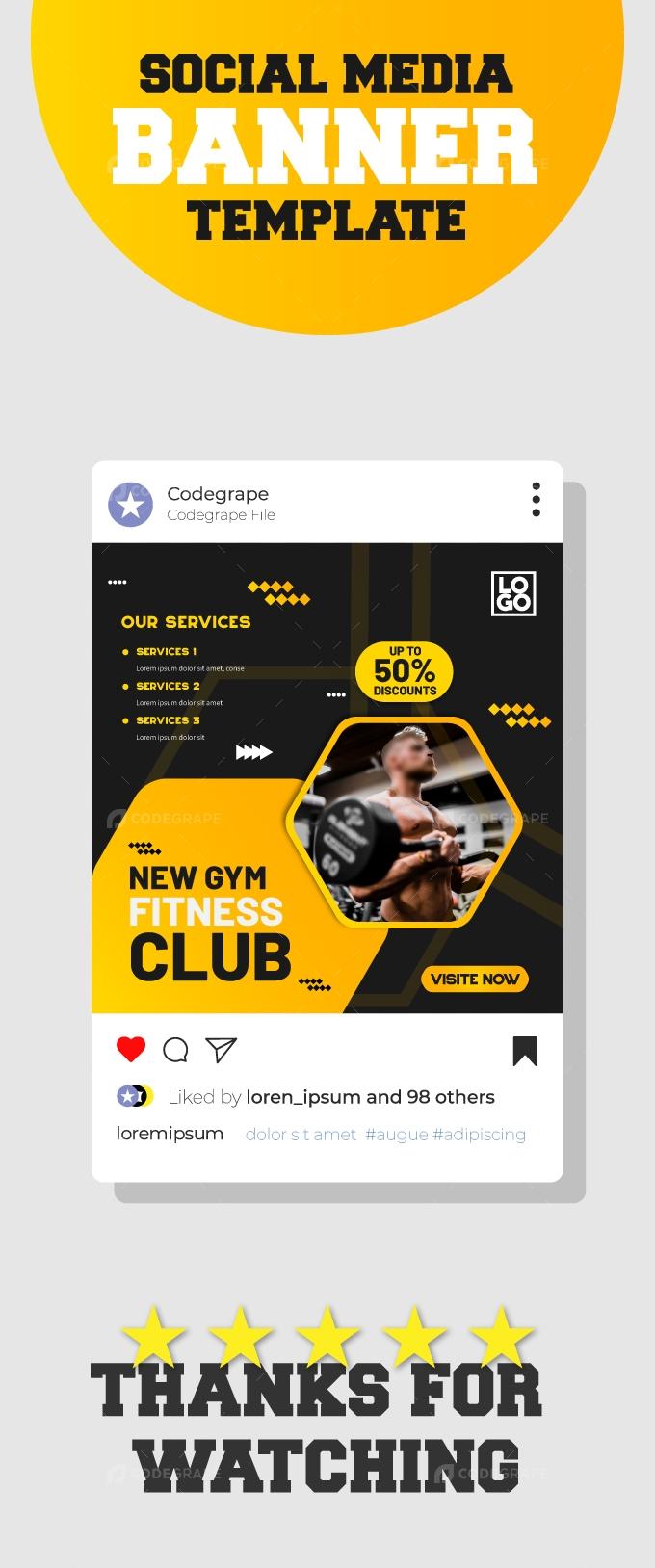 Fitness Club Social Media Banner