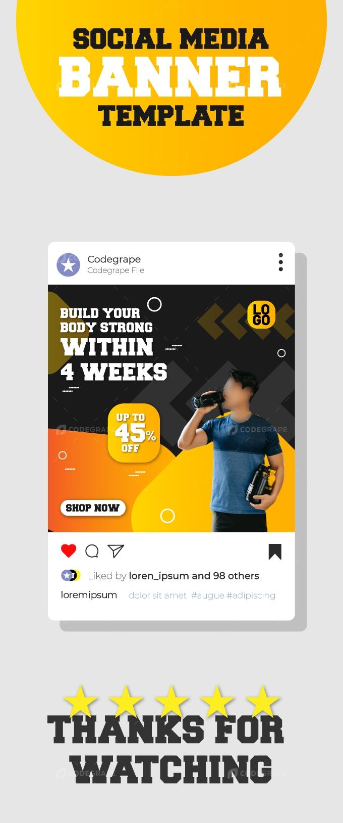 Gym Fitness Discounts Instagram Banner