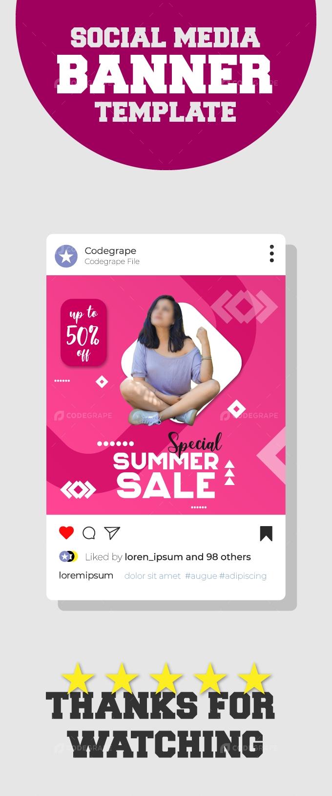 Hot Summer Sale Ads Banner Template