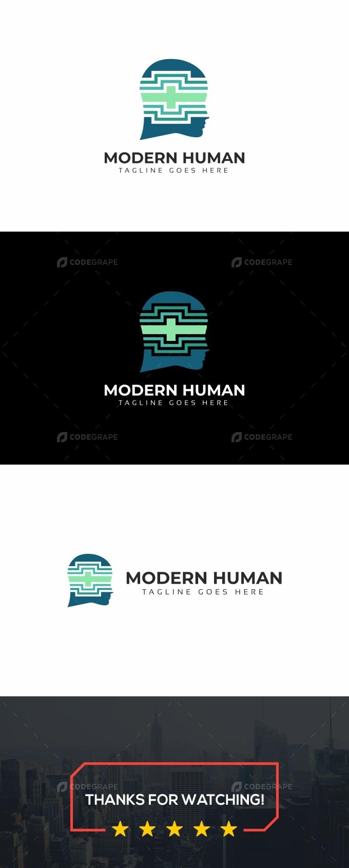 Modern Human Logo