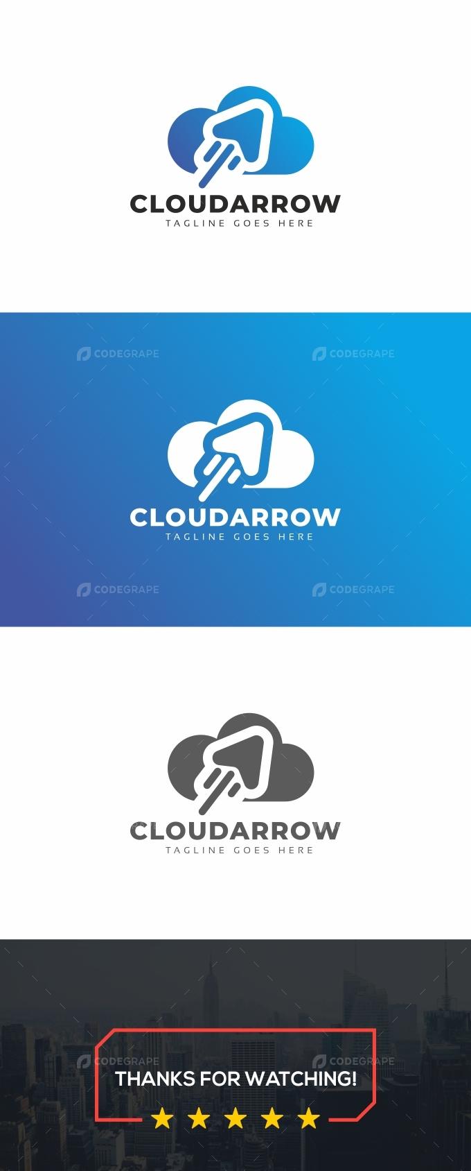 Cloud Arrow Logo