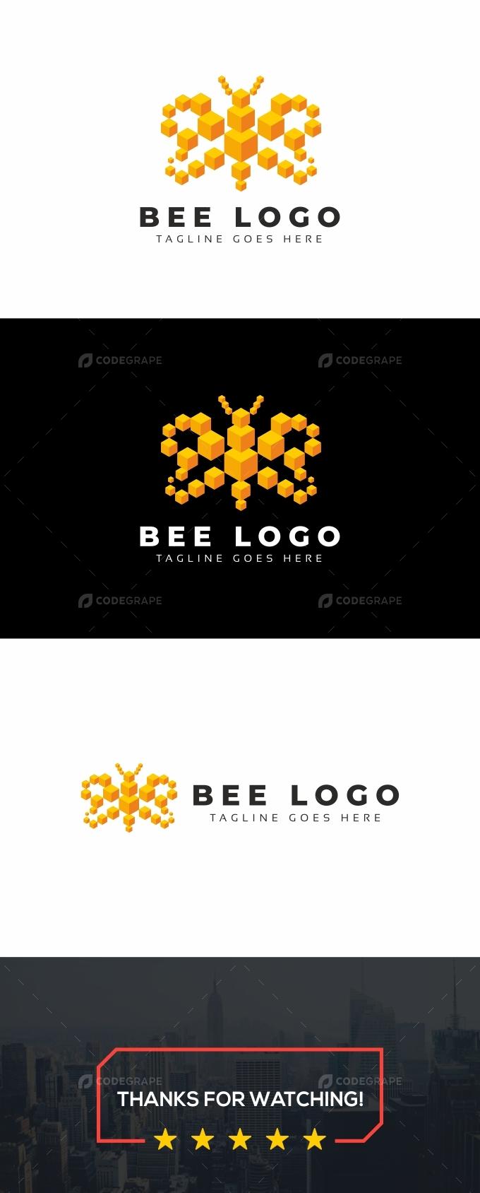 Bee 3D Logo