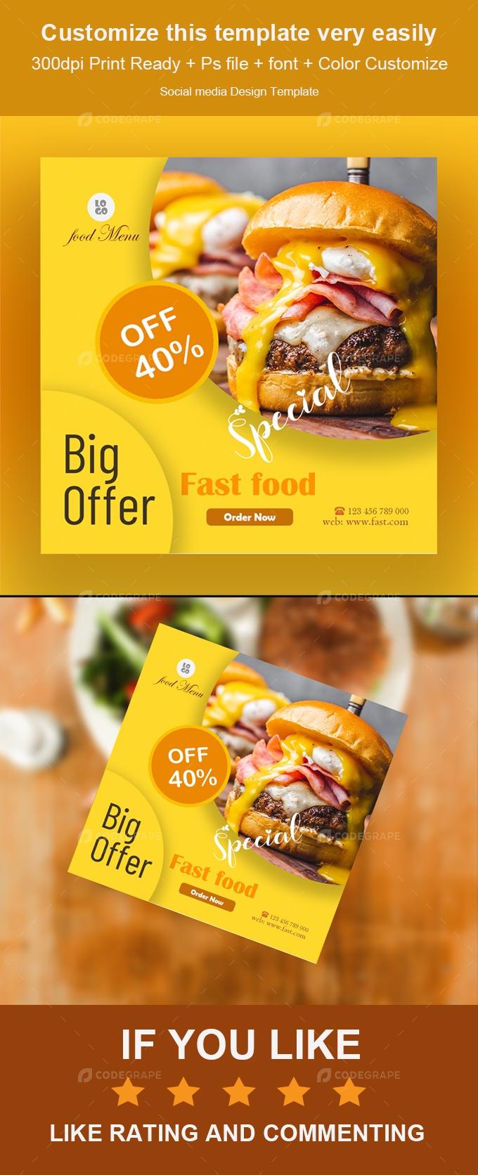 Fast Food Social Media Banner