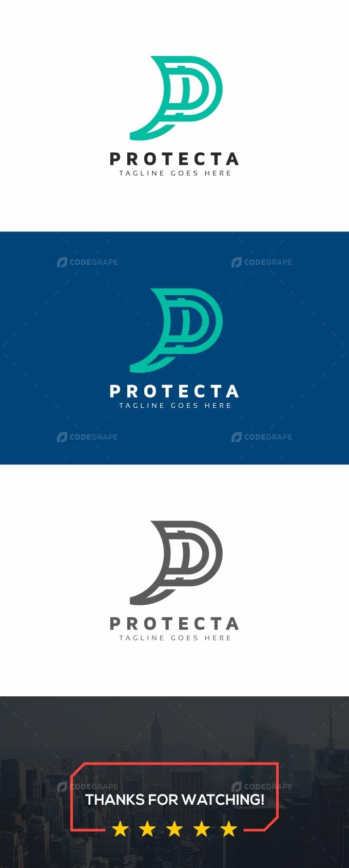 Protecta P Letter Logo