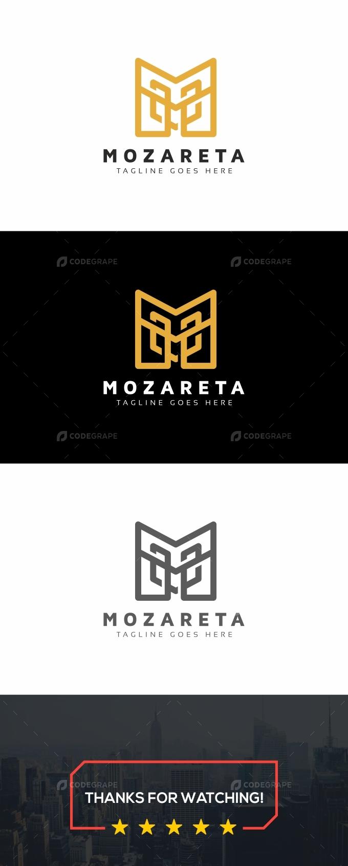 Mozareta M Letter Logo