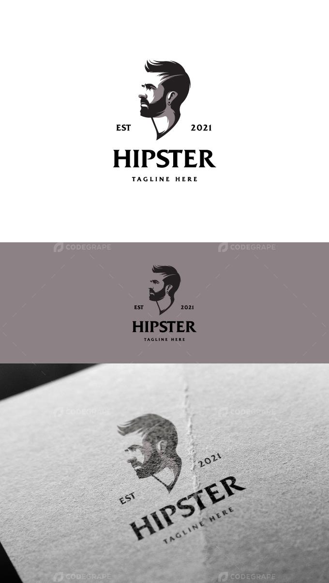 Hipster Beard Logo