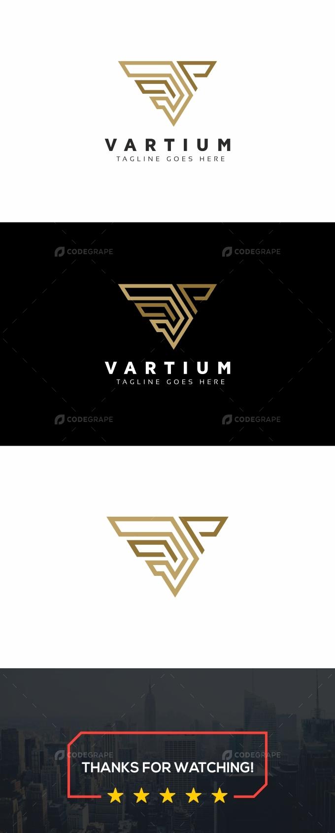 Vartium V Letter Logo