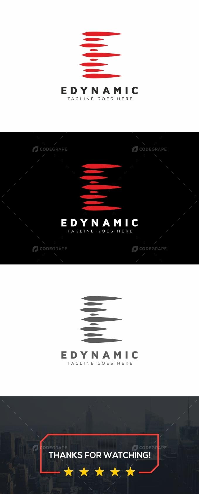 E Dynamic Letter Logo