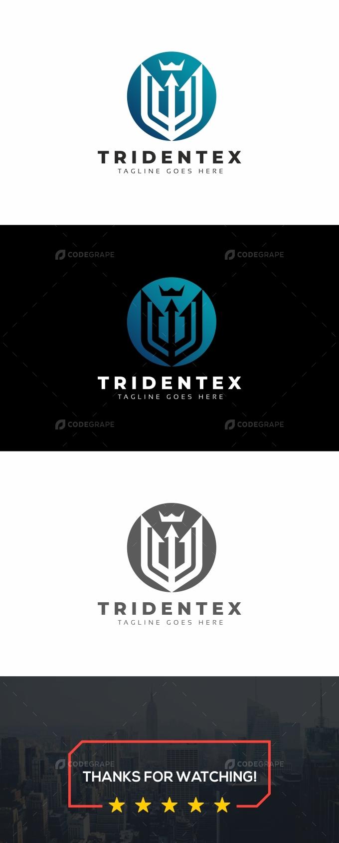 Trident Crown Logo