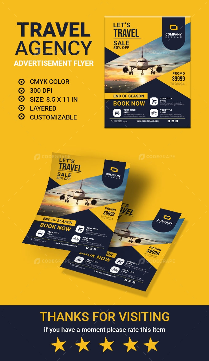 Travel Agency Advertisement Flyer