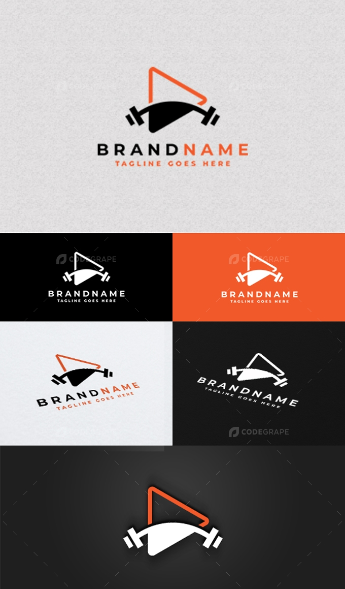 Fitness Play Logo Template