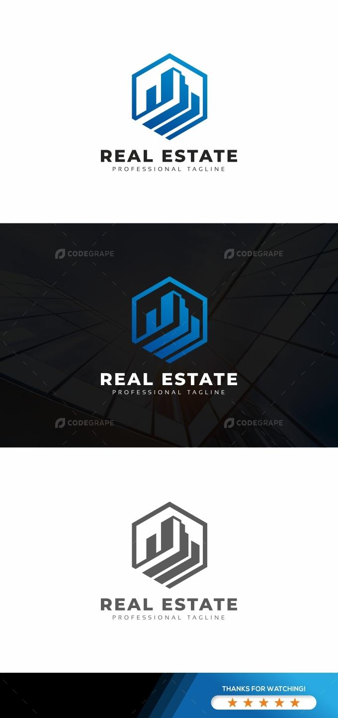 Real Estate Hexagon Logo