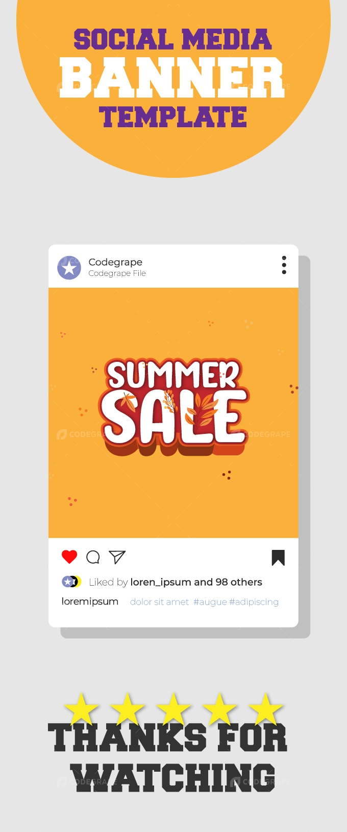 Summer Sale Creative Vector Banner