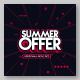 Summer Offer Vector Tag social Media Template