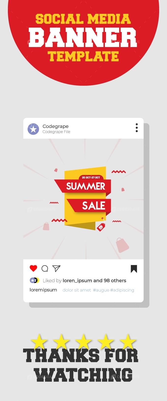 Summer Sale social Media Tag Banner