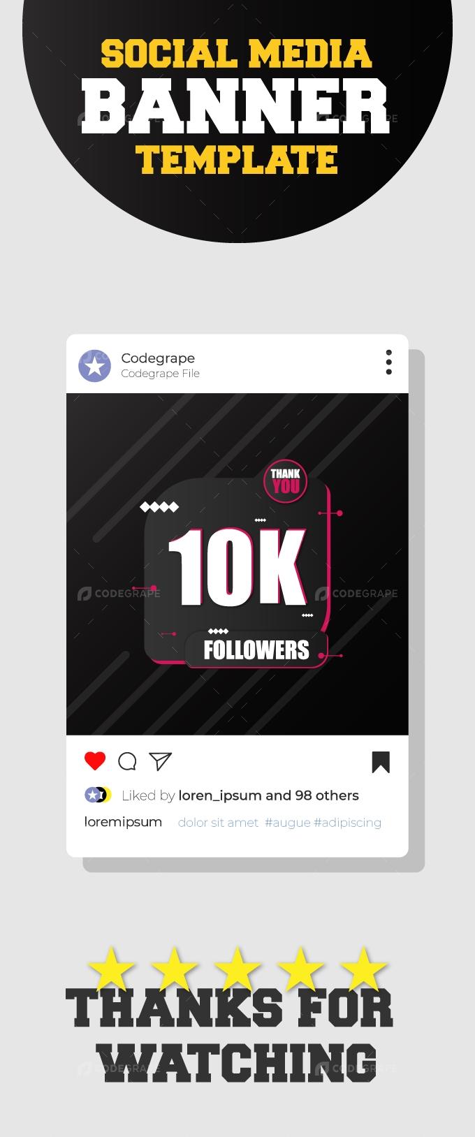 Social Media Followers Celebration Template