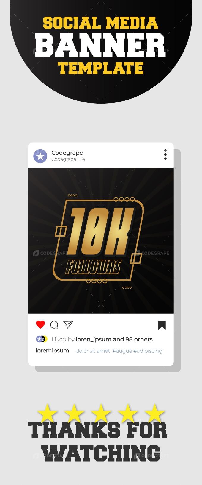 Social Media Followers Celebration Design