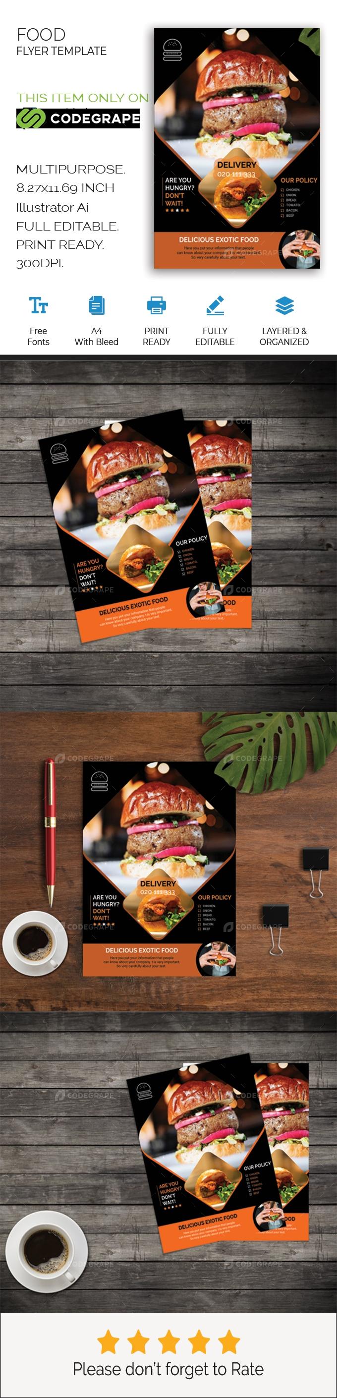 Restaurant Flyer Design Templates