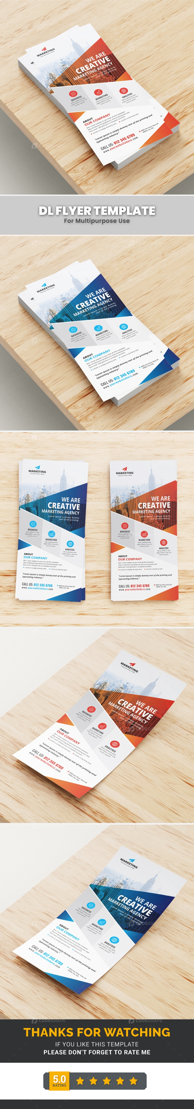 Corporate DL Flyer Template
