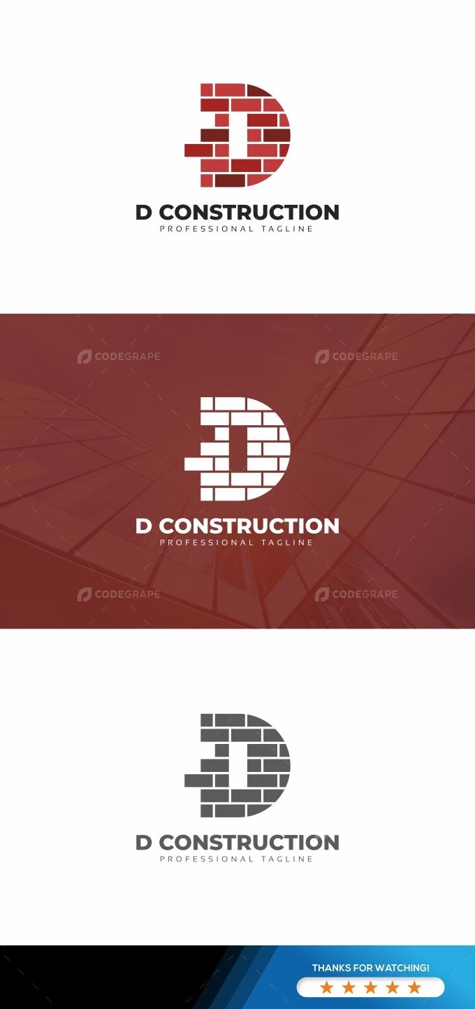 D Construction Wall Logo