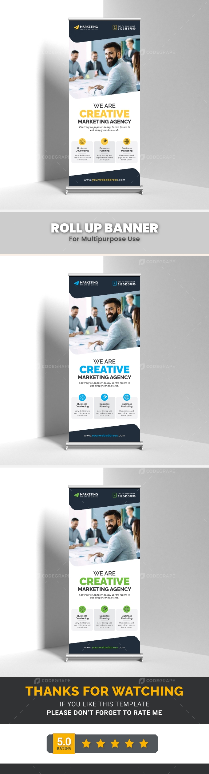 Corporate Roll Up Banner Template