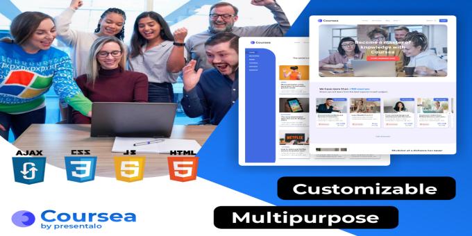 Coursea Web / 10 Modern Multipurpose HTML Website Templates