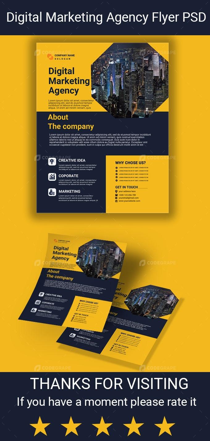 Digital Marketing Agency Advertisement Flyer
