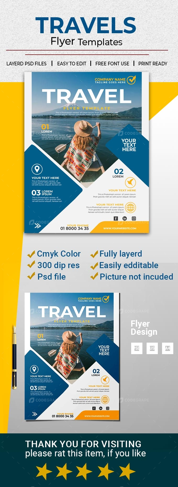 Travels Advertisement Flyer