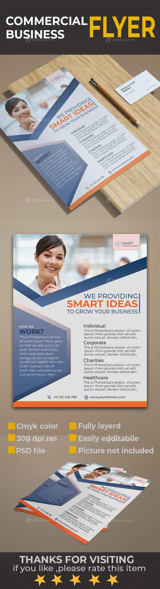 Commercial business flyer