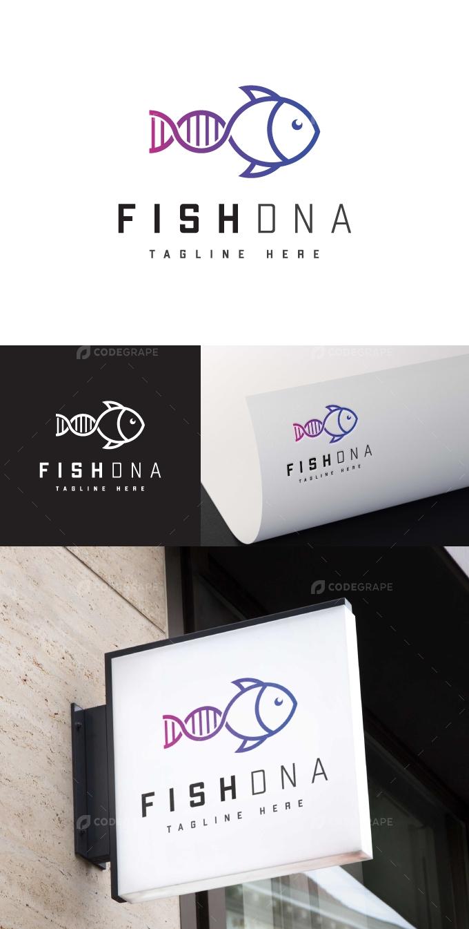 Fish DNA Logo